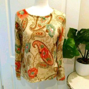 Alfred Dunner Paisley Sweater Size S